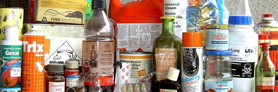 Verschiedene Chemikalienprodukte